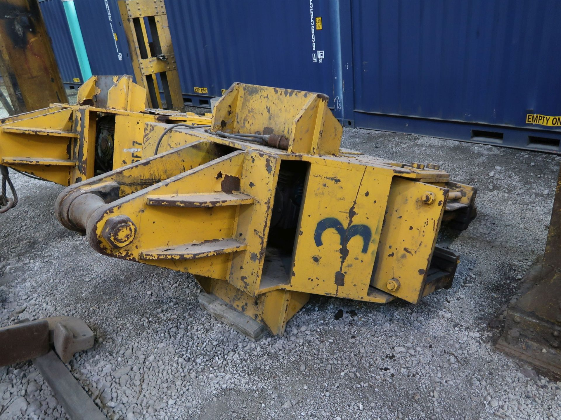 Lot 441 - 80,000 LB. VOEST - ALPINE HSF7 MOTORIZED OVERHEAD CRANE COIL LIFTER