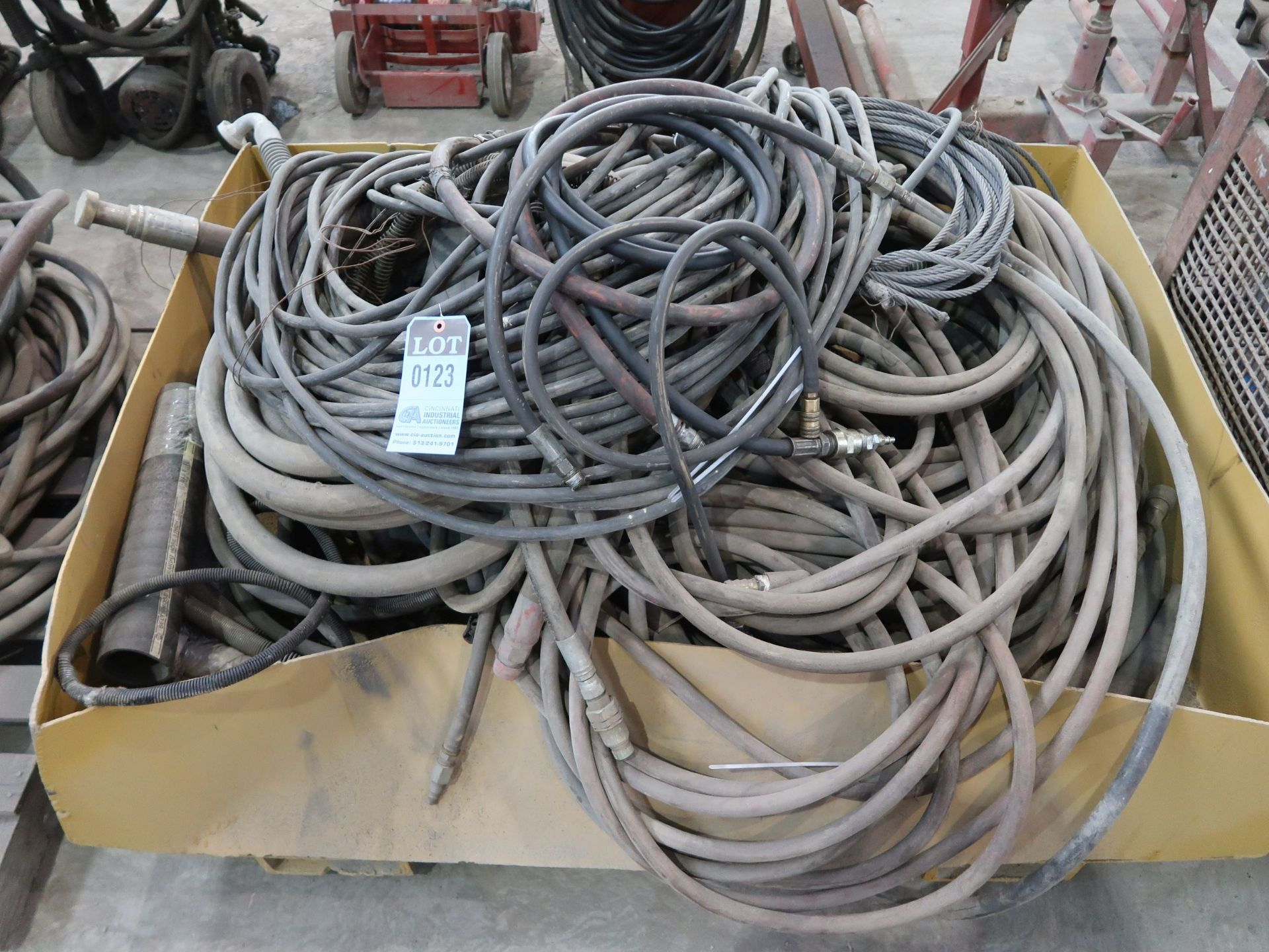 Lot 123 - (LOT) AIR AND WATER HOSE