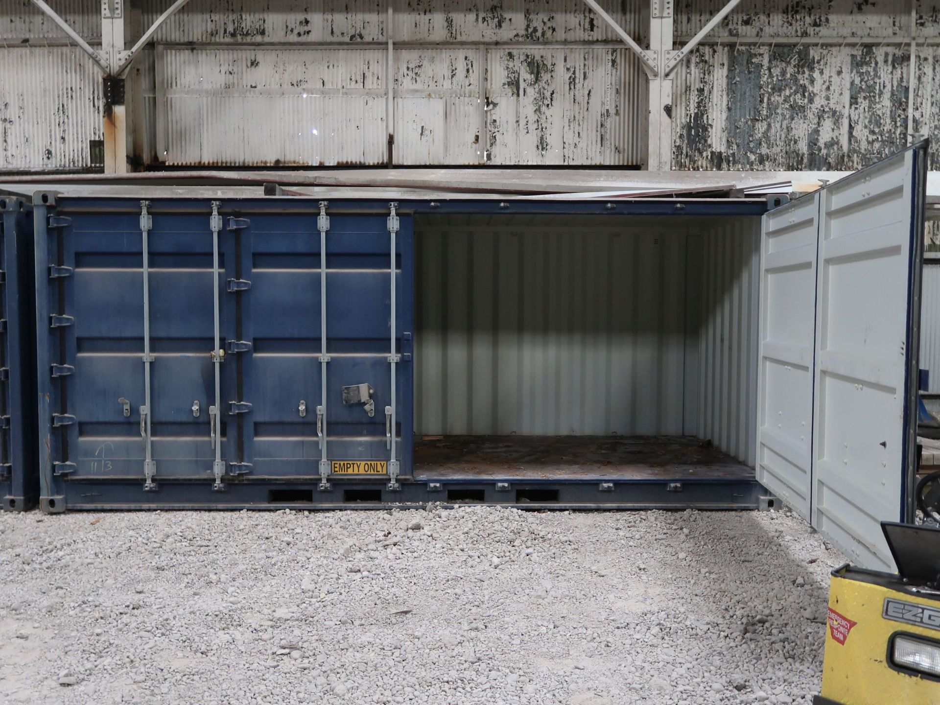 Lot 268 - 8' X 20' CONTAINER PROVIDERS INTERNATIONAL CONEX CONTAINER, SIDE AND END DOORS; NO. 555715 (NEW