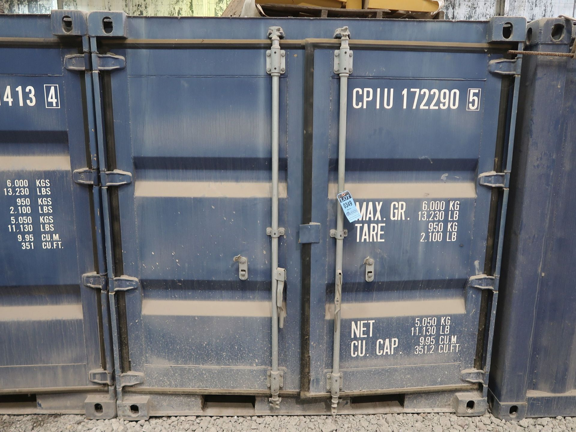Lot 349 - 8' WIDE X 20' LONG CHARLESTON MARINE CONEX STORAGE CONTAINER