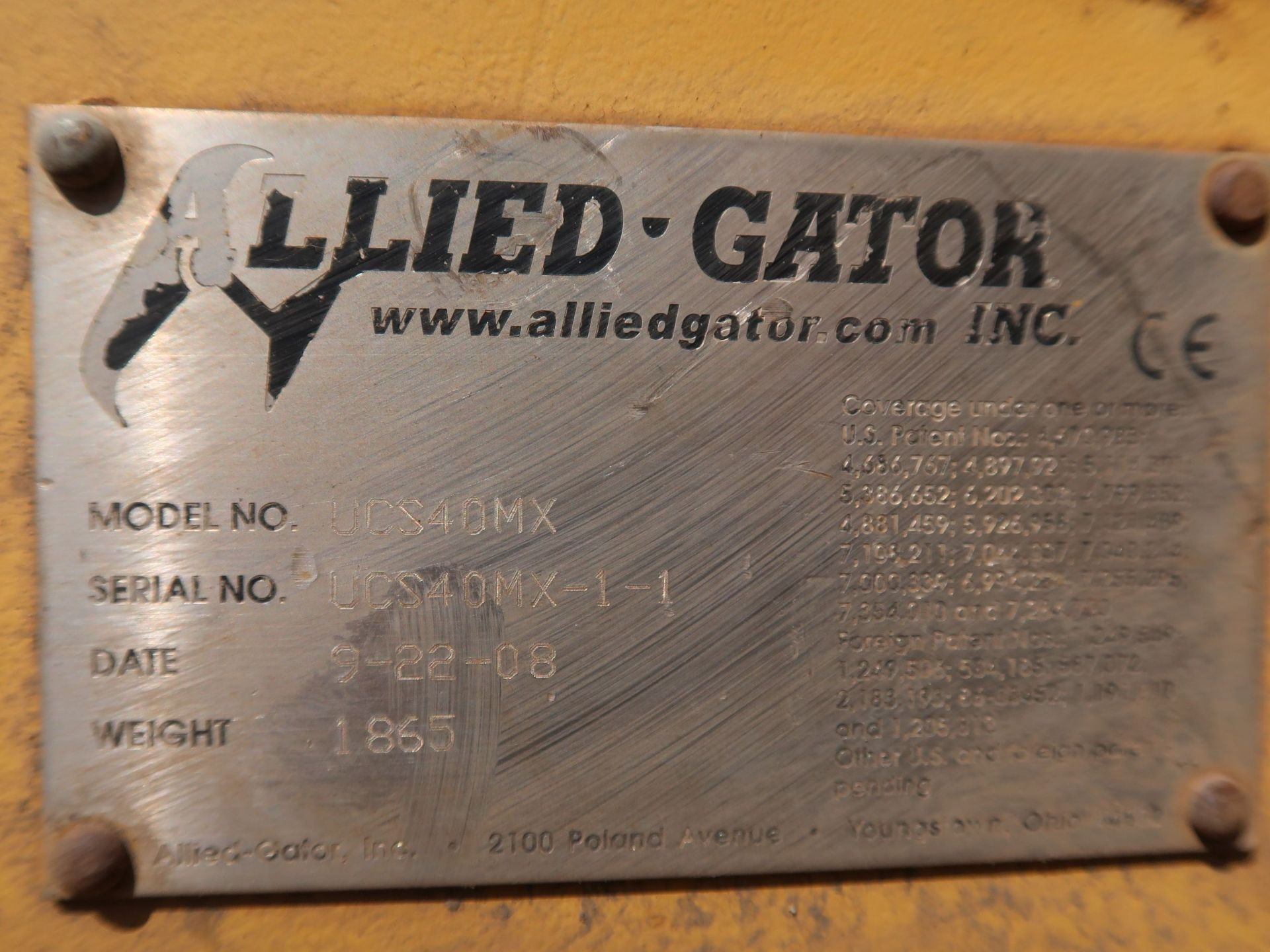 Lot 1030 - ALLIED GATOR UCS40MX MAGNET EXTENSION ATTACHMENT WITH ELECTRO MAGNET