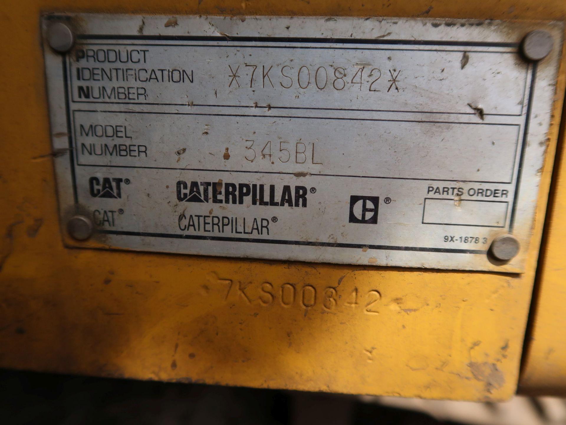 "Lot 1025 - 2002 CATERPILLAR MODEL 345BLME-VG HYDRAULIC EXCAVATOR; S/N 7KS00842, 35-1/2"" WIDE TRACKS, 11,692"