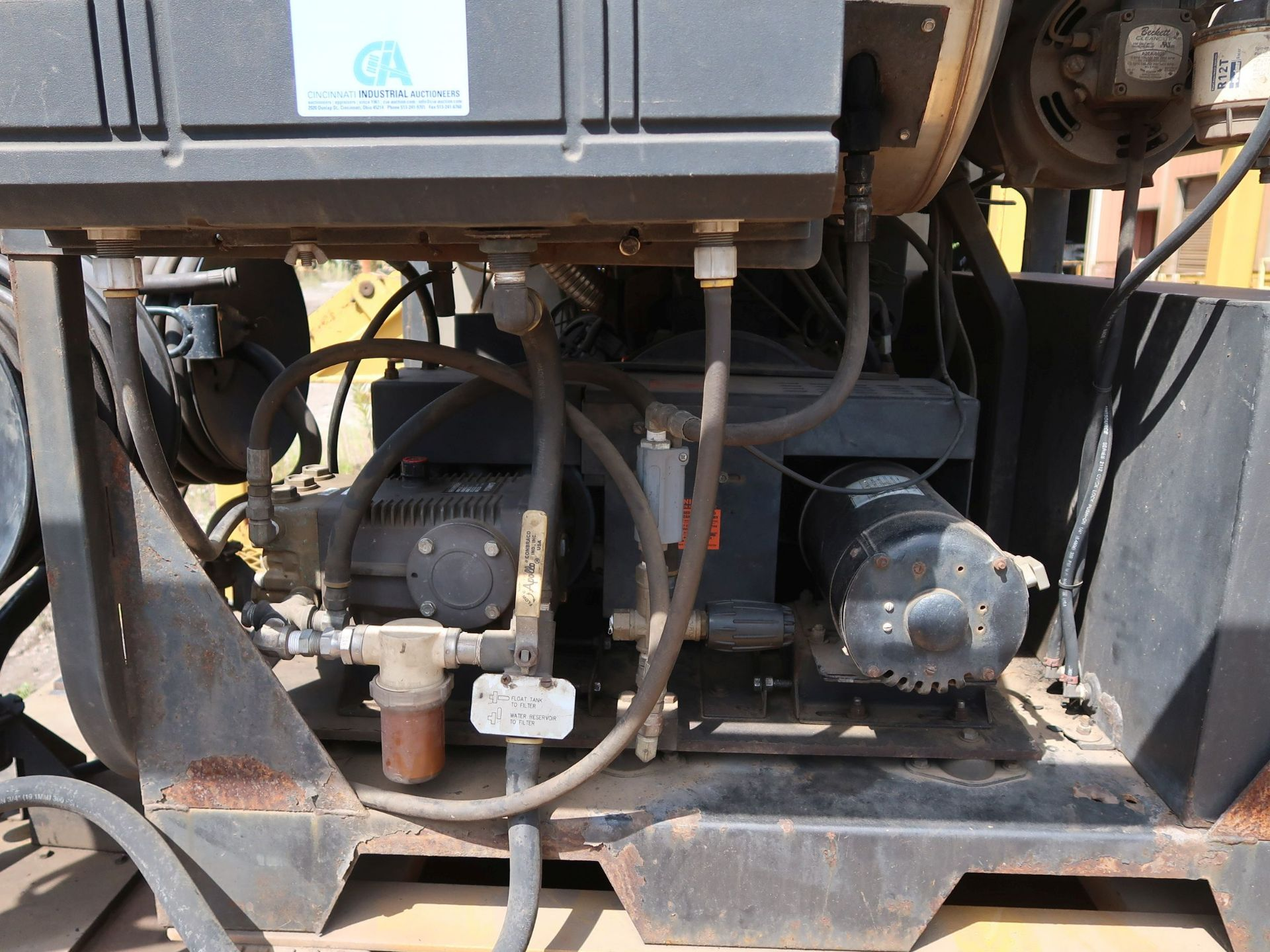 Lot 1002 - 3,500 PSI LANDA MODEL SDHW6-3500E DIESEL POWERED SKID MOUNTED POWER WASHER; S/N P0206-118436,