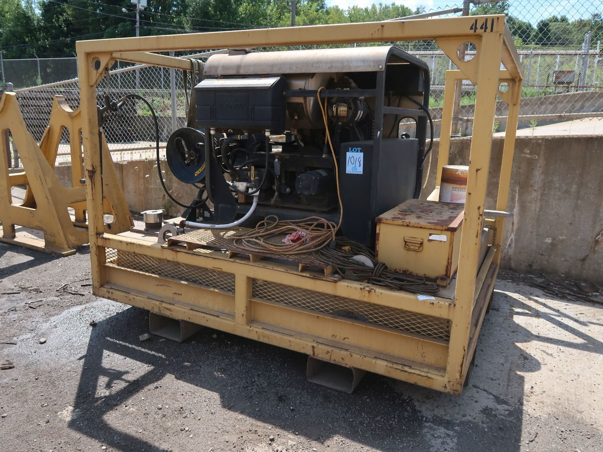 Lot 1018 - 3,500 PSI LANDA MODEL SDHW6-3500 DIESEL POWERED SKID MOUNTED POWER WASH; S/N P0304-76533