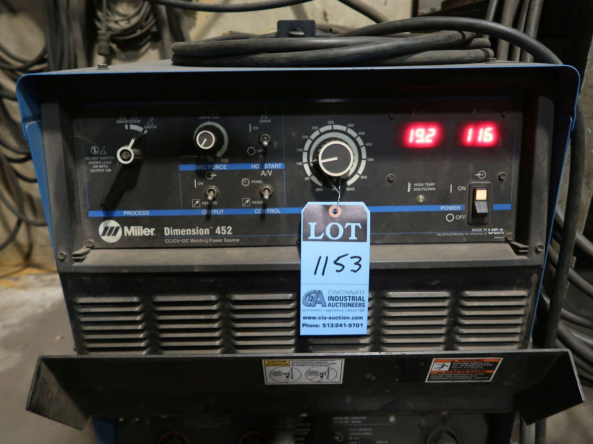 Lot 1153 - 450 AMP MILLER DIMENSION 452 WELDER