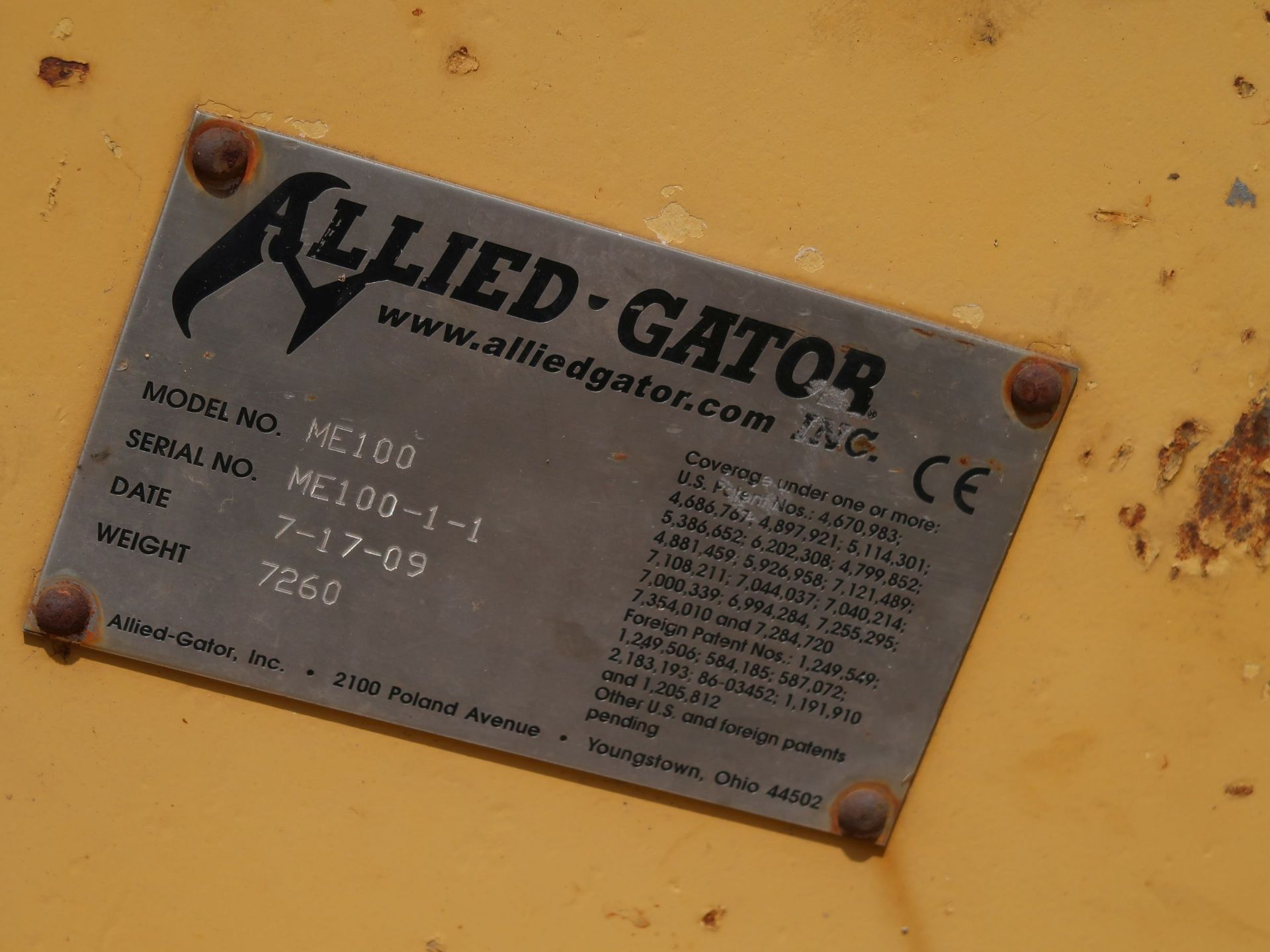 Lot 1024 - ALLIED GATOR MODEL ME100 MAGNET EXTENSION ATTACHMENT WITH NATIONAL ELECTRIC ELECTRO MAGNET (