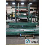 (LOT) PALLET RACK, (3) SECTION STANDING, (8) SKIDS OF BEAMS, UPRIGHTS AND DECKING