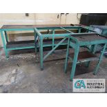 (LOT) MISC. STEEL TABLES