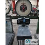 225 LB DEFECTO MODEL 2202AEDX PORTABLE PLATFORM SCALE ON CART