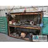 ONE SECTION PALLET RACK WITH CONTENTS
