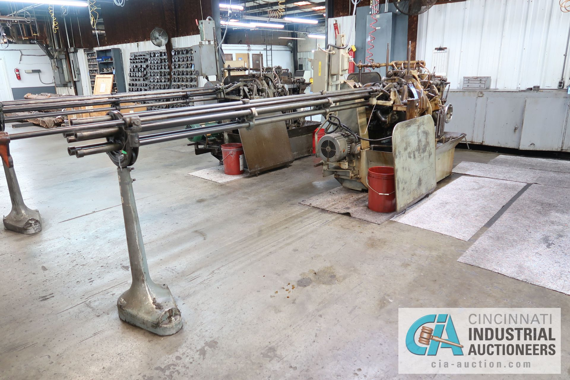 "Lot 2 - 3/4"" DAVENPORT 5-SPINDLE SCREW MACHINE; S/N 8077 (NEW 11-1973), WITH THREADING CLUTCH, PICK OFF,"