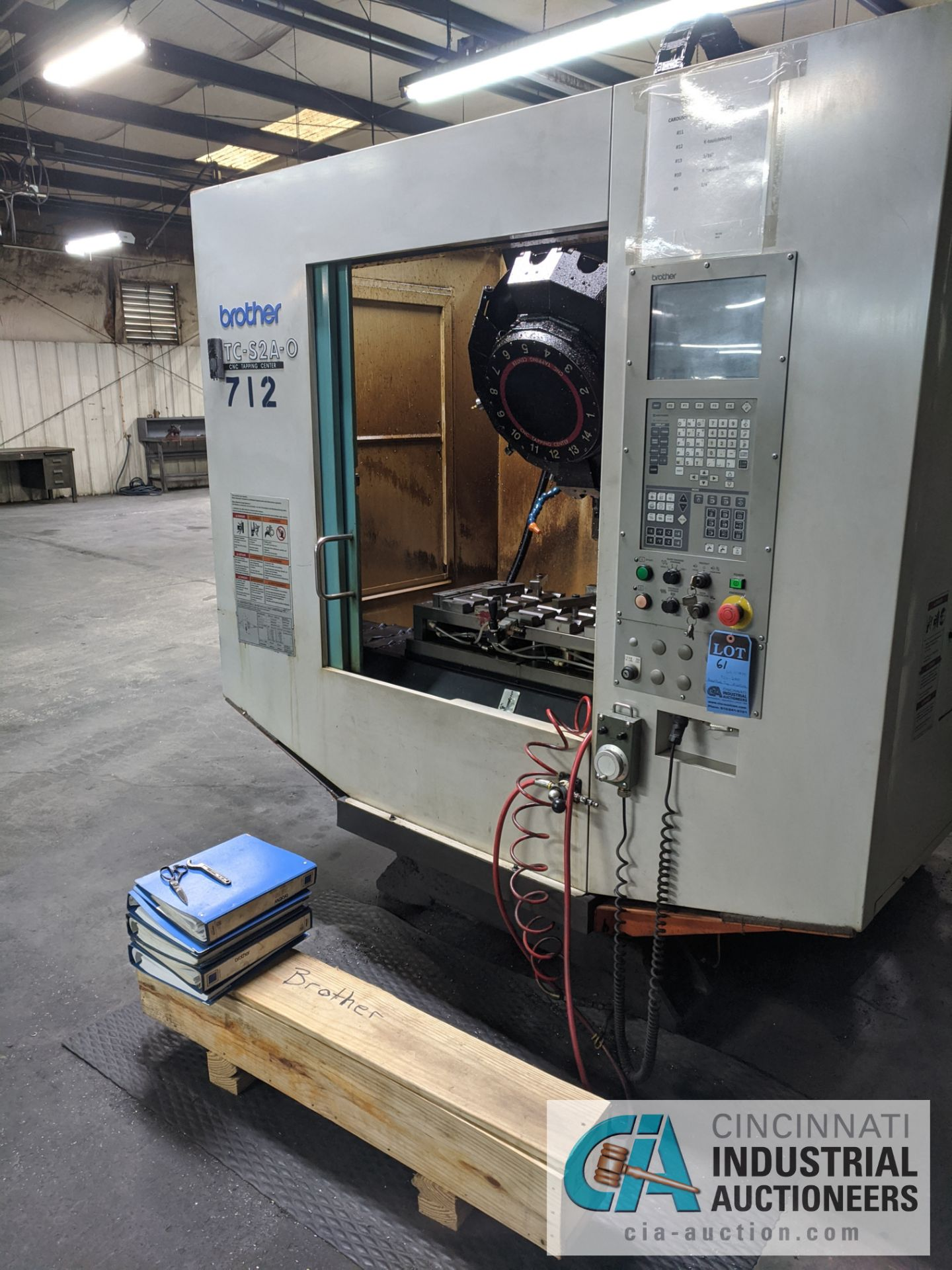 BROTHER MODEL TC-S2A-O CNC DRILL AND TAP MACHINE; S/N 113839 (NEW 2003) - Image 4 of 9