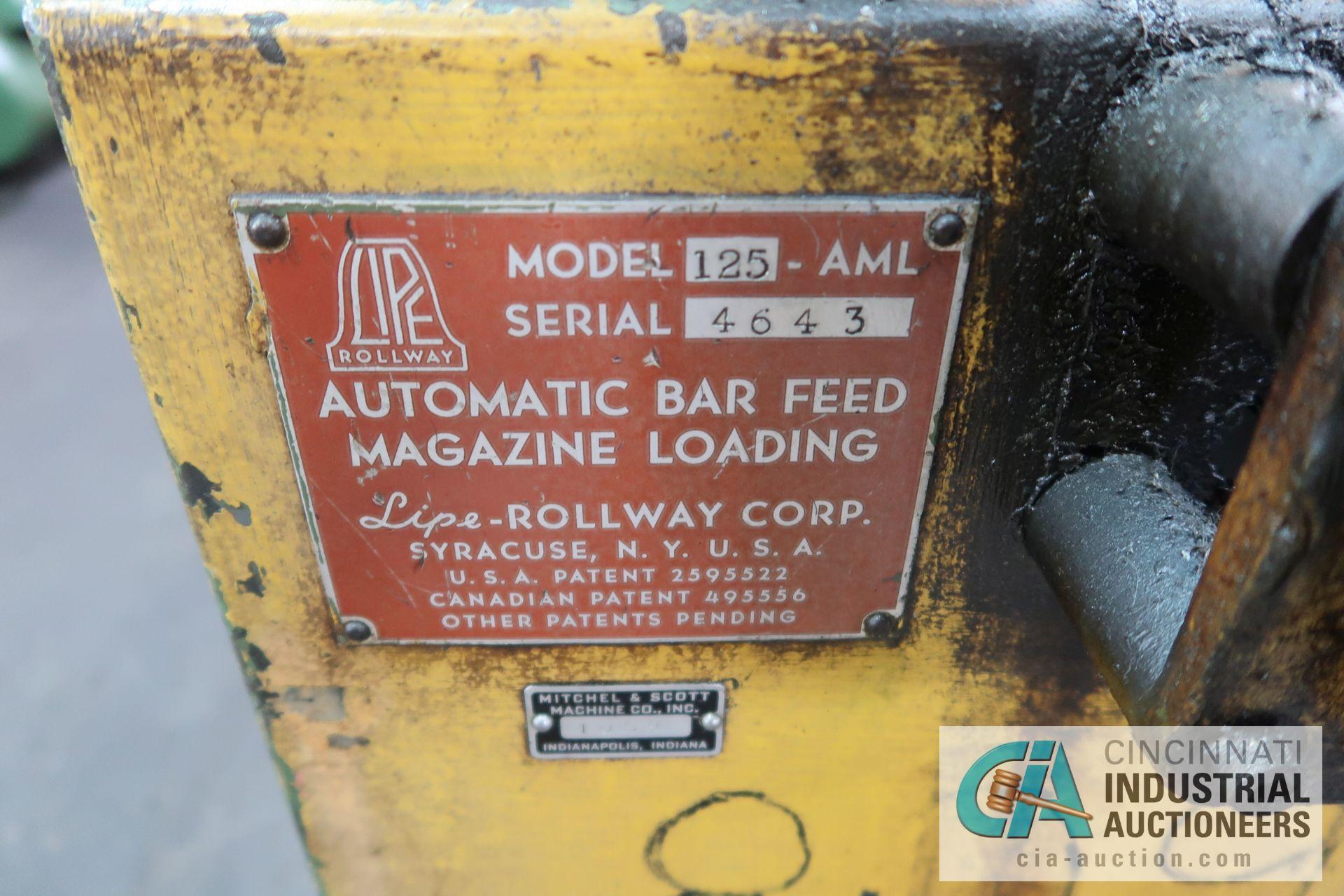 LIPE-ROLLAWAY MODEL 125-AML AUTOMATIC BAR FEED; S/N 4643 - Image 4 of 4