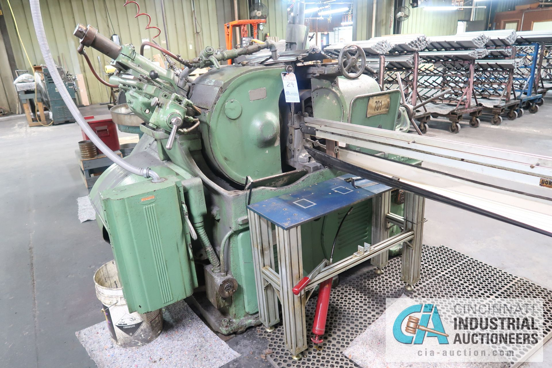 CINCINNATI MODEL 2 CENTERLESS GRINDER; S/N 2M2H1R-154 (NEW 1966) WITH INFEED AND OUTFEED CONVEYOR