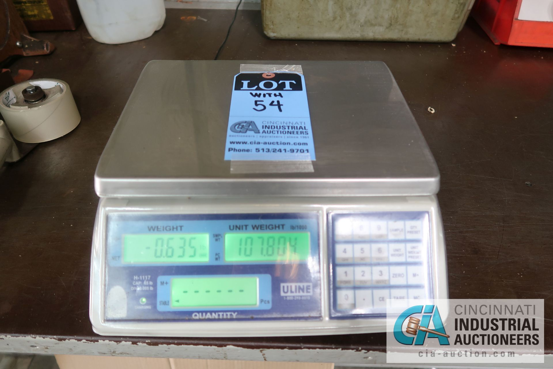 Lot 54 - 100 LB. CAPACITY METTLER-TOLEDO MODEL 8582 COUNTING SCALES WITH (1) 65 LB. CAPACITY ULINE MODEL H-