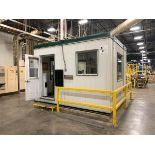 """MODULABEC FACTORY OFFICE, 13' X 132"""" X 115"""" HIGH, W/ AIR CONDIDIONING & OFFICE FURNISHING"""