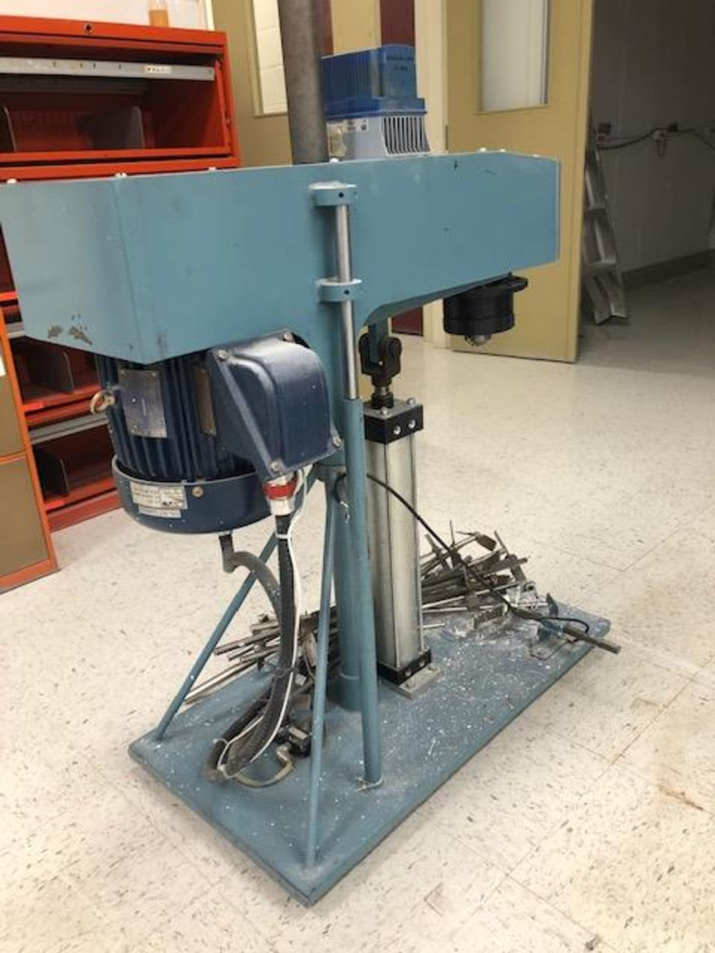 Lot 16 - Slow mixer Ragonia 2hp with drive and 12 impellers