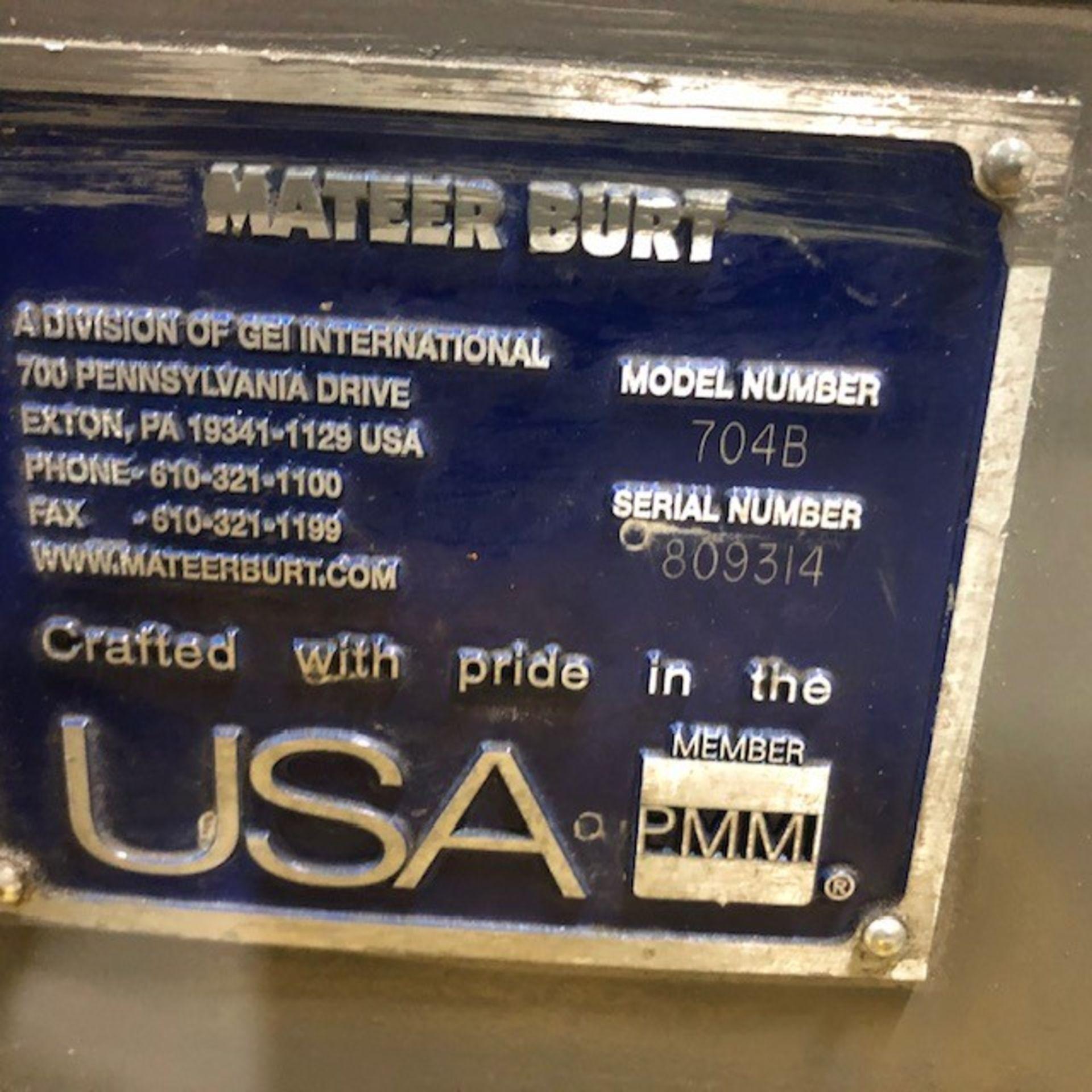 Labeller MDC Mateer-Burt, model: 704B, s/n: 809314 600V - Image 2 of 3