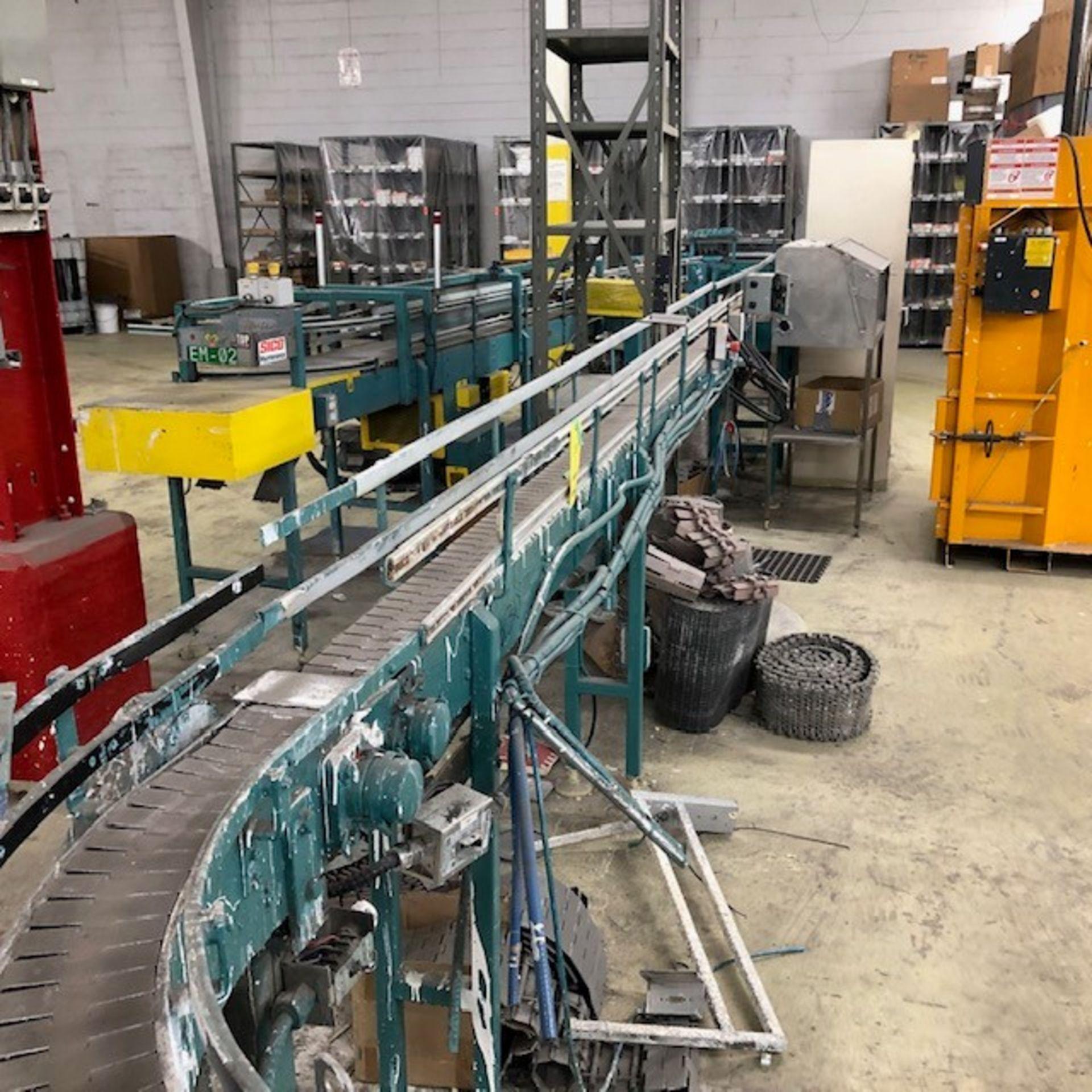 Lot 30 - gallons conveyors approx 60' long