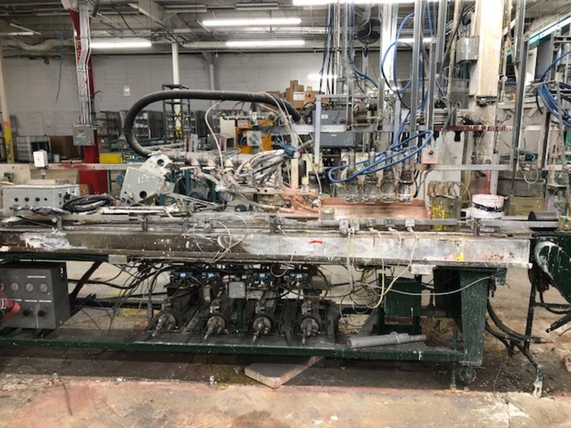 Lot 35 - Filler Rago inline 4 heads gallons/quarts Festo System/Ragonia, project no. 404-03-030206, s/n/date: