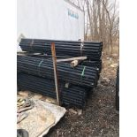Lot 39 - LOT OF 7FT BLACK FENCE POSTS