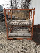 Lot 45 - ORANGE STEEL RACK