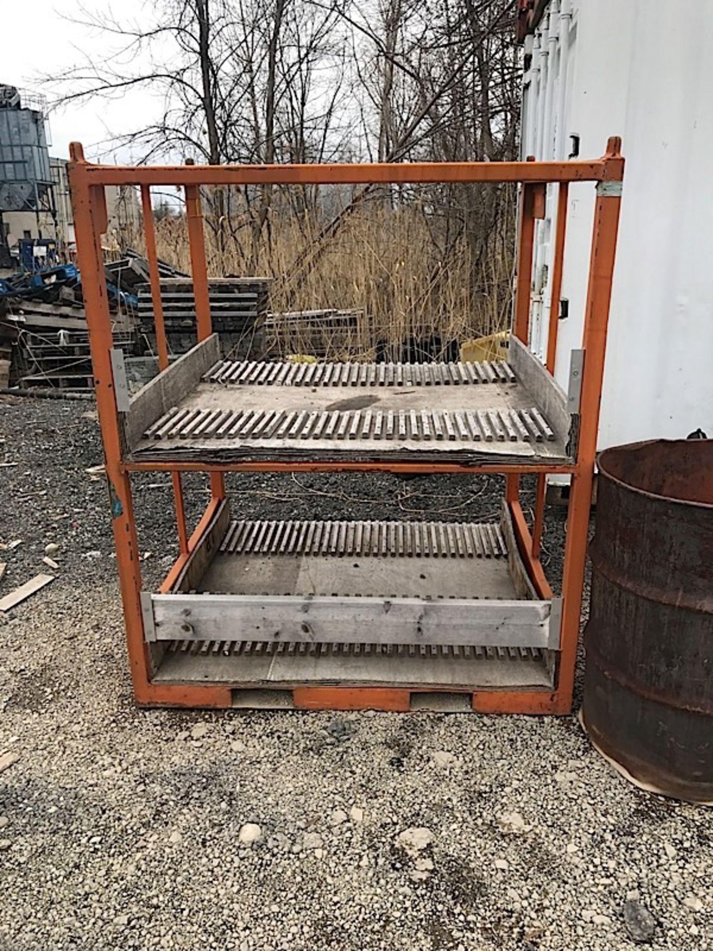 Lot 45 - ORANGE STEEL RACK