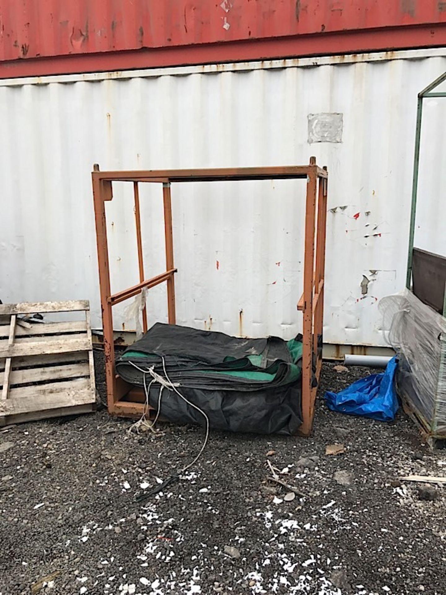 Lot 44 - ORANGE STEEL RACK