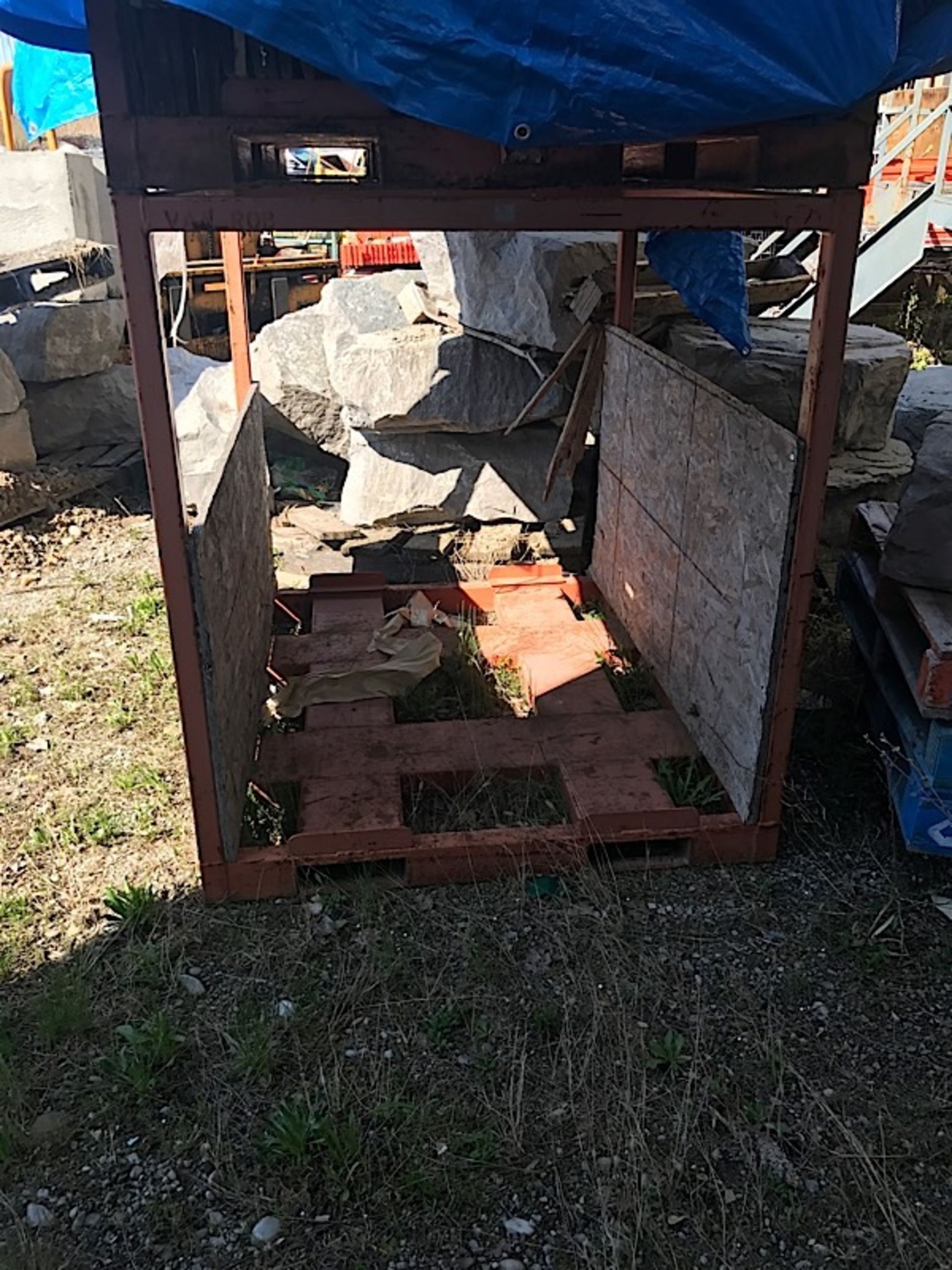 Lot 46 - ORANGE STEEL RACK