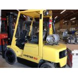Lot 54 - Hyster (S50XM) 5,000 lbs. cap Outdoor / Pneumatic Tire LPG Forklift