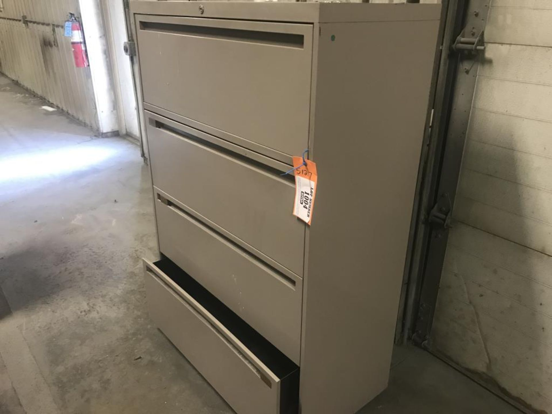 Lot 1004 - Four drawer lateral file cabinet