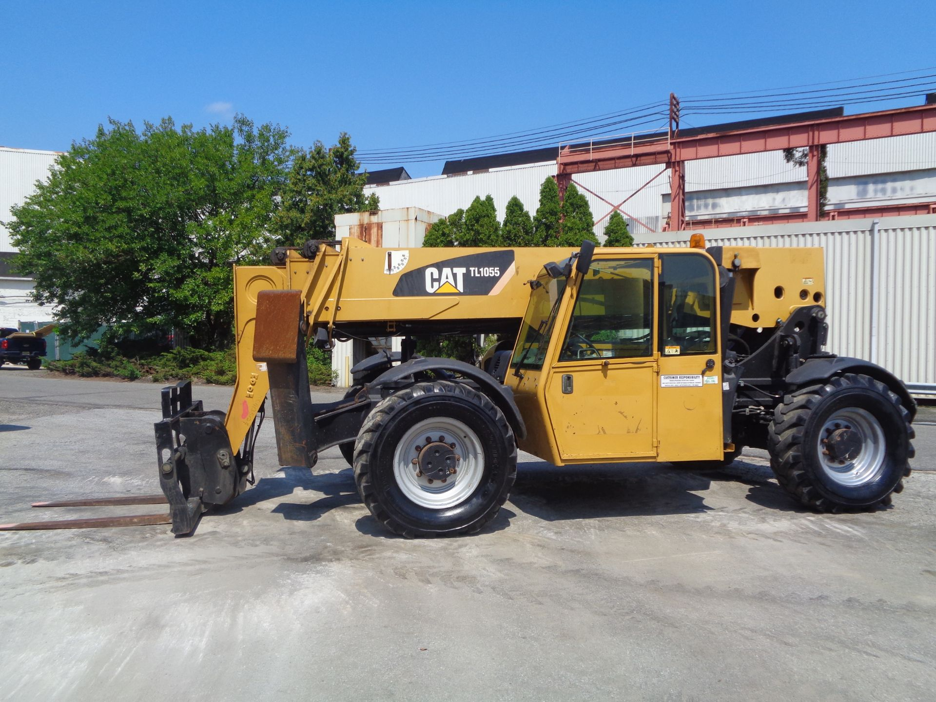 Lot 162 - Caterpillar TL1055 10,000lbs 55ft Telescopic Forklift