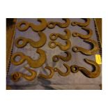 Lot of 14 Riggers Hooks (#518)
