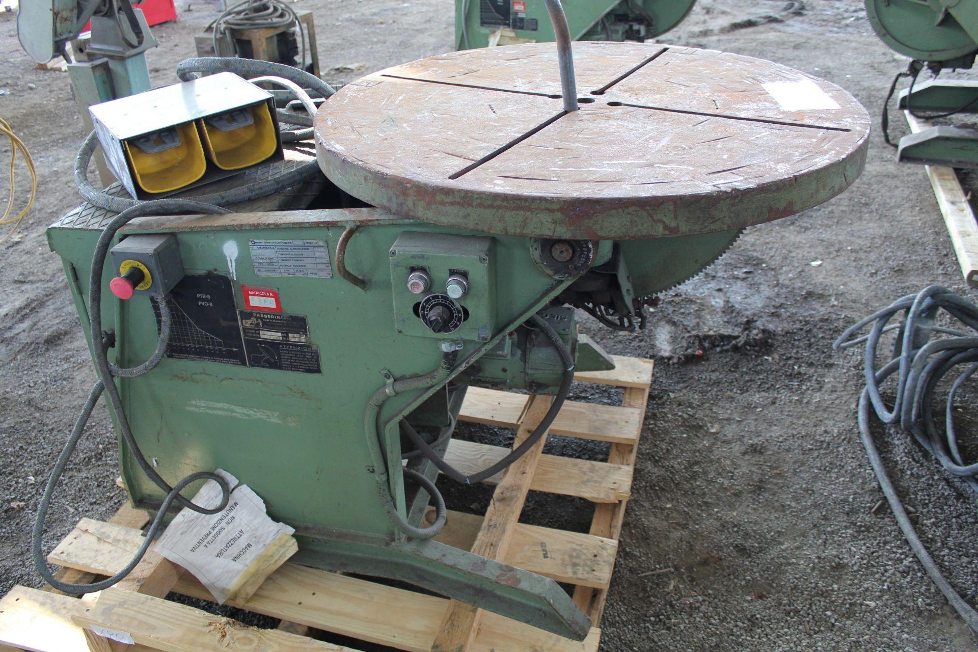 Lot 14 - Passerini Model PTR-8 Weld Positioner, 1800lb,s/n 2550