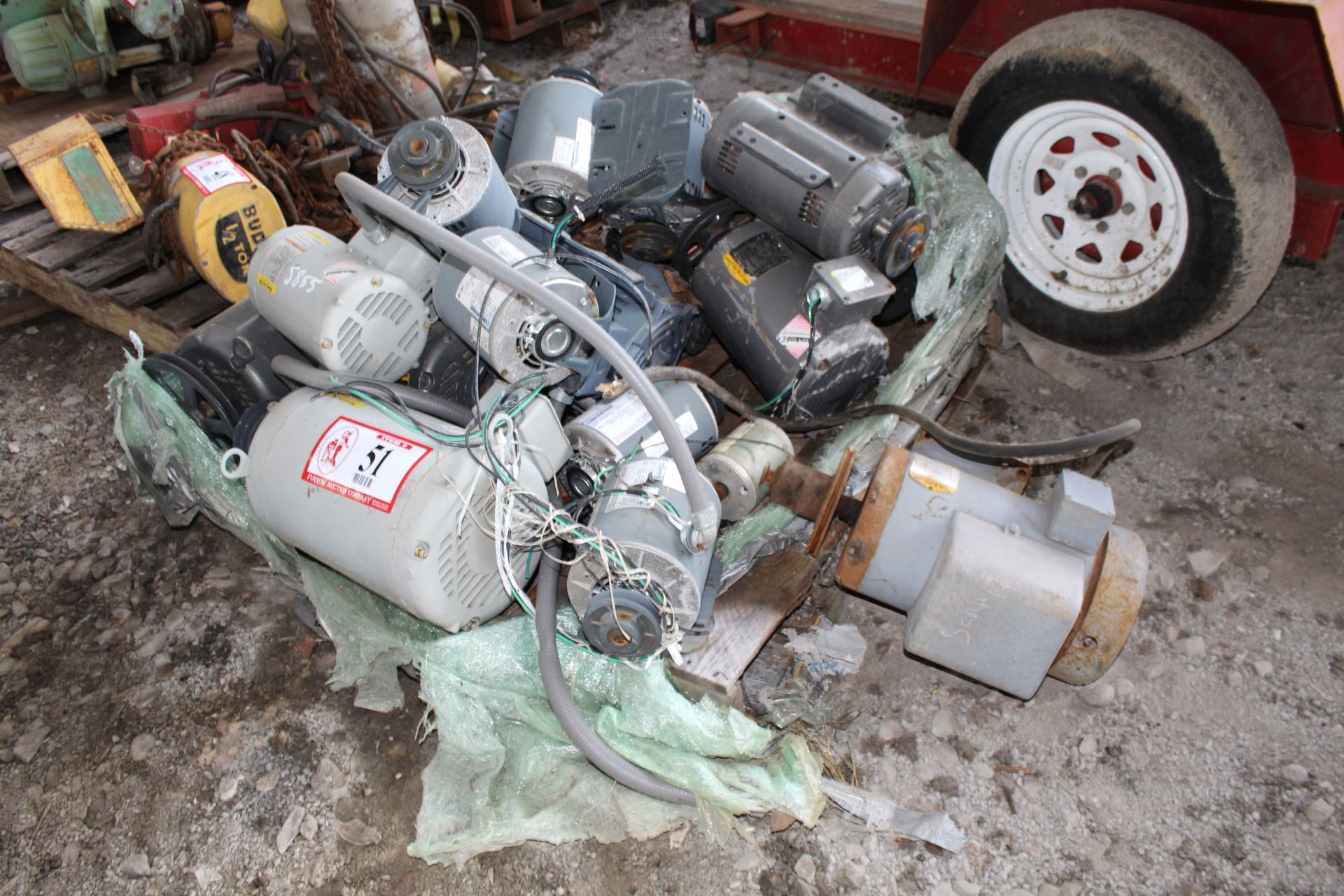 Lot 51 - (16) Electrical Motors, From 1/3hp-15hp