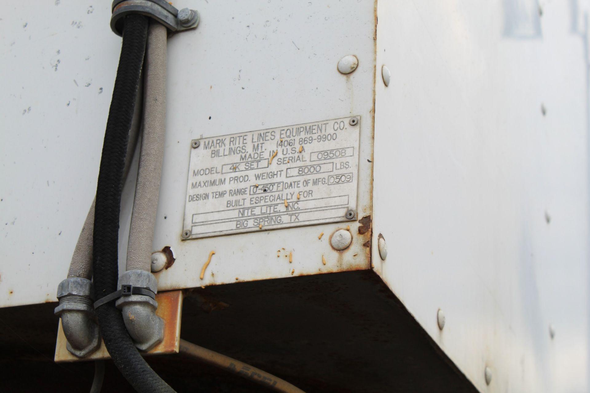 2009 MRL Skid Mounted 8,000lb Pre Melt Kettle, Model 4K SET s/n 09508 (Buyer is responsible for - Image 6 of 7