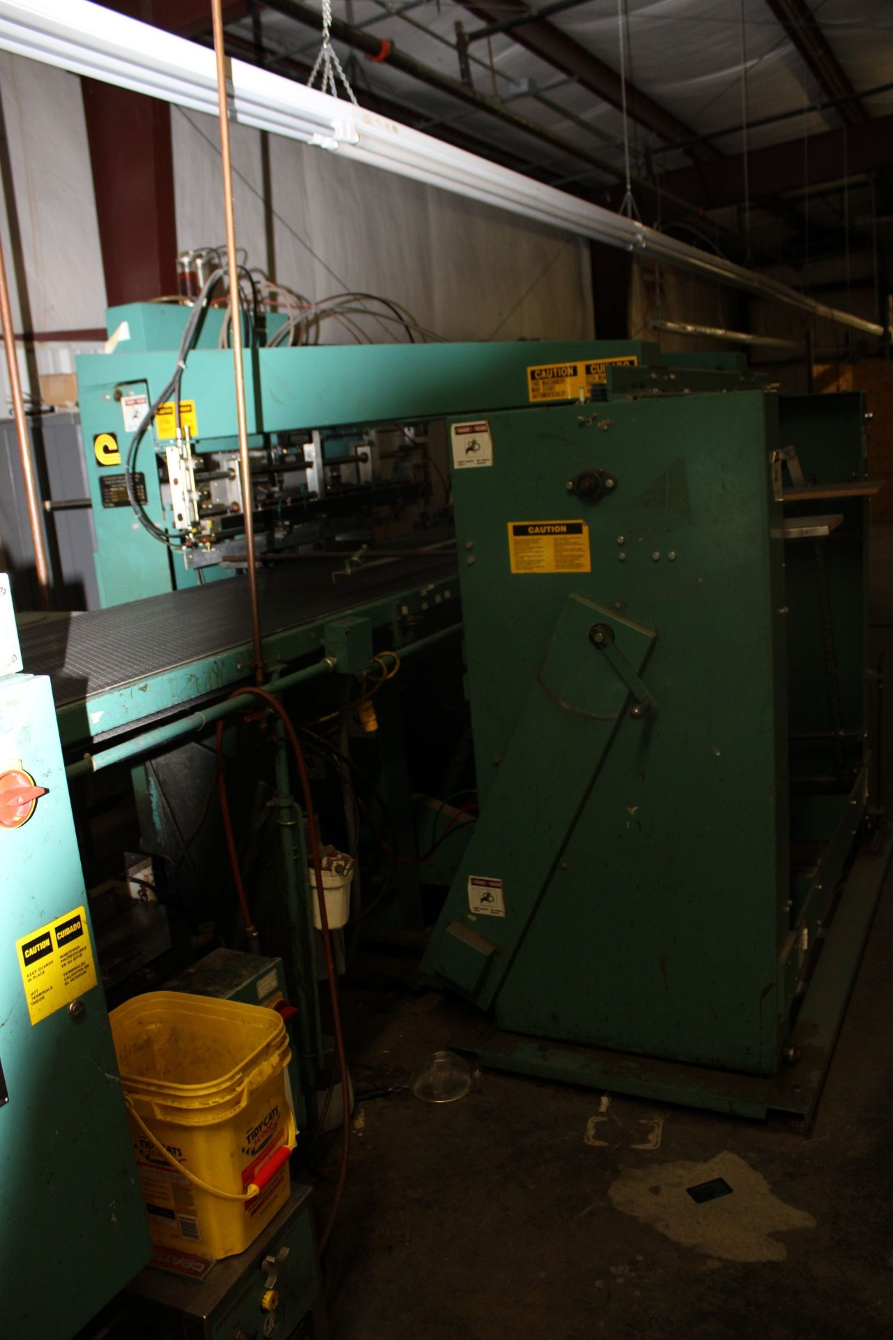 Lot 50 - Crathern Machinery Group Flat Board Wrapper 4FW-2 w/ CMG Automatic Spotter Model FB-3A and a