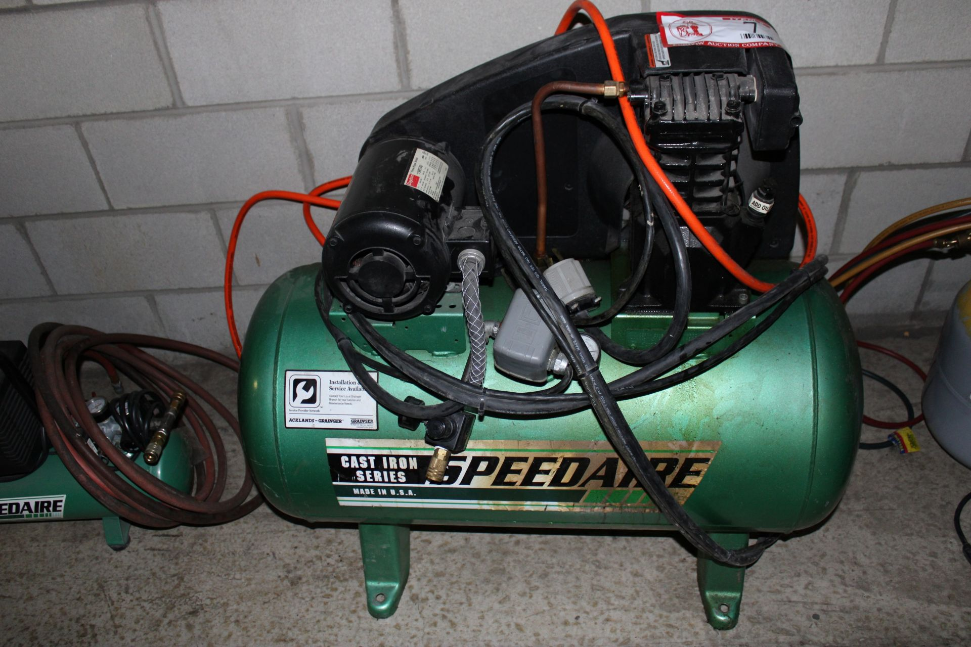 Lot 7 - Speed Air 3hp 24480 Volt 3 Phase Electric Air Compressor