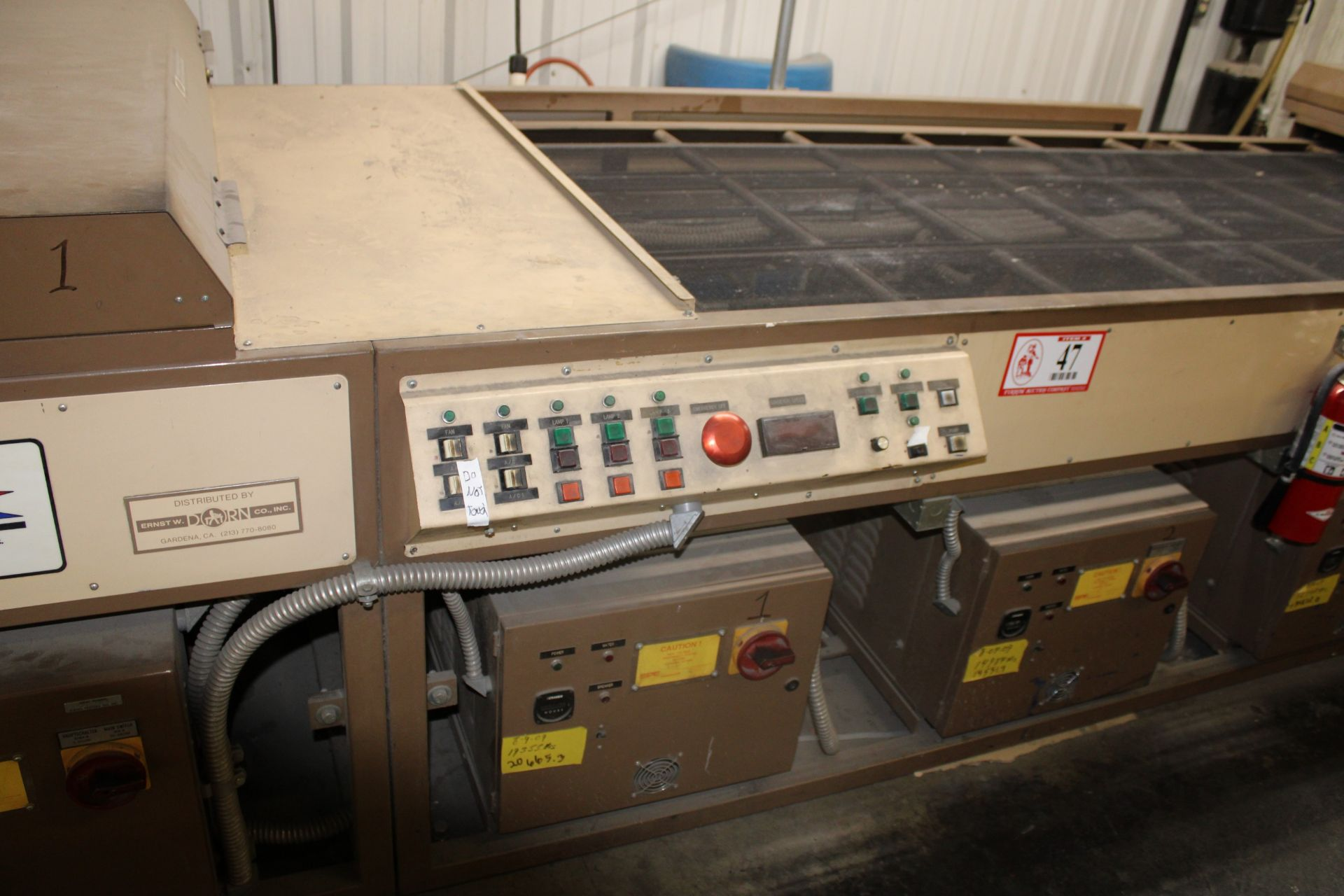 Lot 47 - 1992 SPE Ultra Violet Curing Oven Model 2PI-4230X