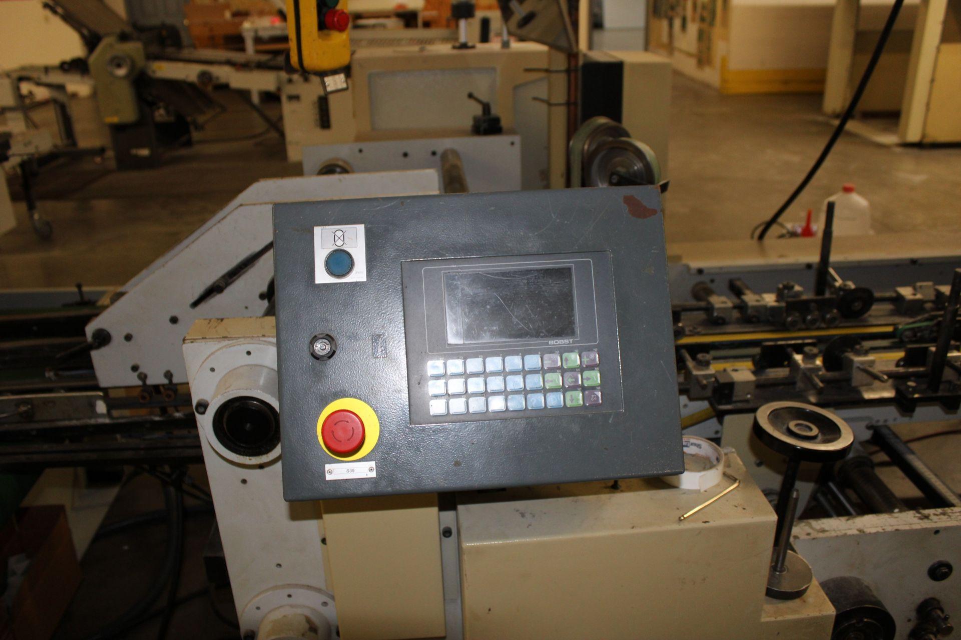 Lot 34 - 1997 BOBST Media 100 II-A2 Folder/Gluer w/ Heavy Duty PAFRA PDC Controls s/n 0341-062-03