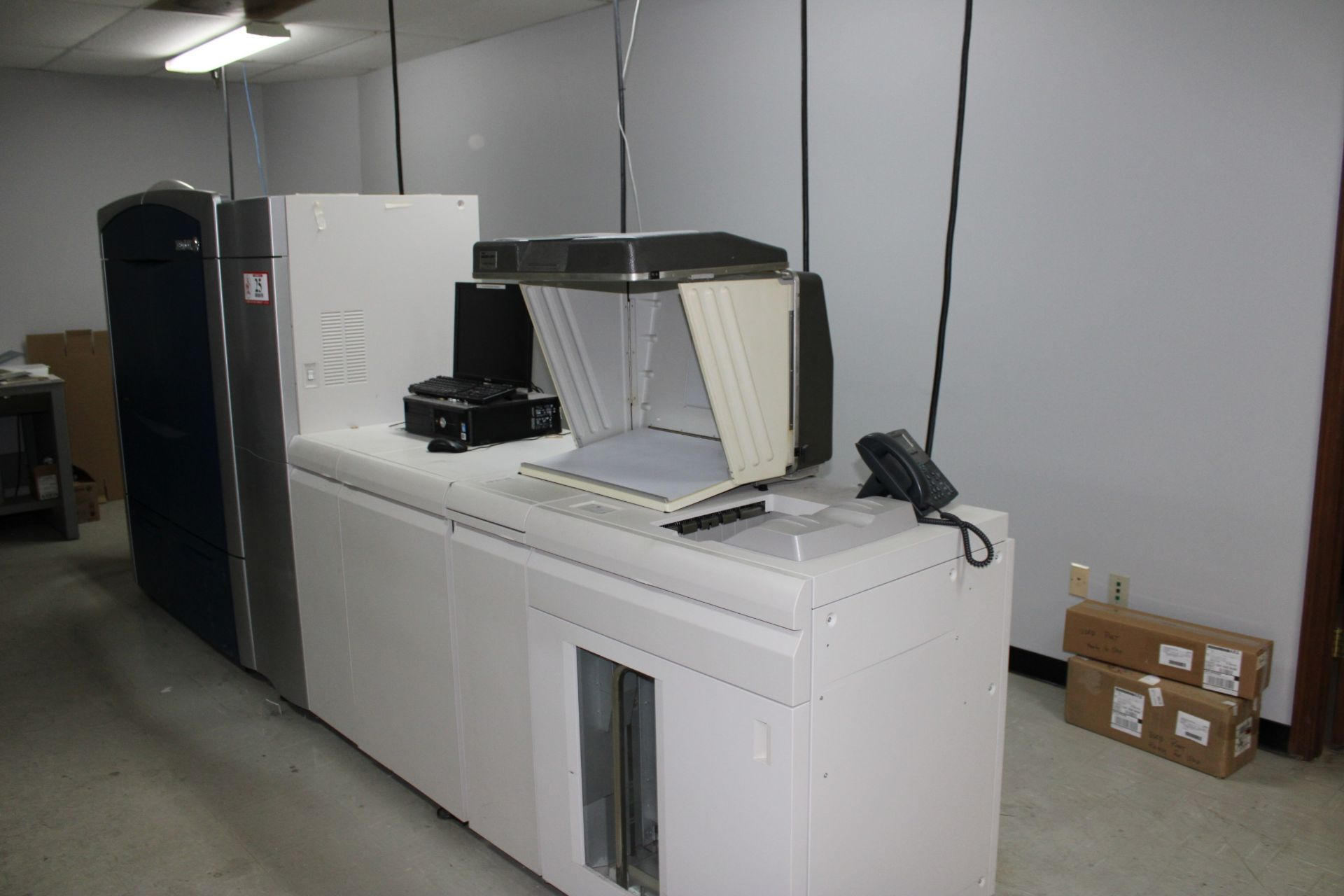Lot 25 - XEROX Color 800 Digital Copier w/ Dell Computer/Monitor/Keyboard/Mouse/ Laser Jet Press
