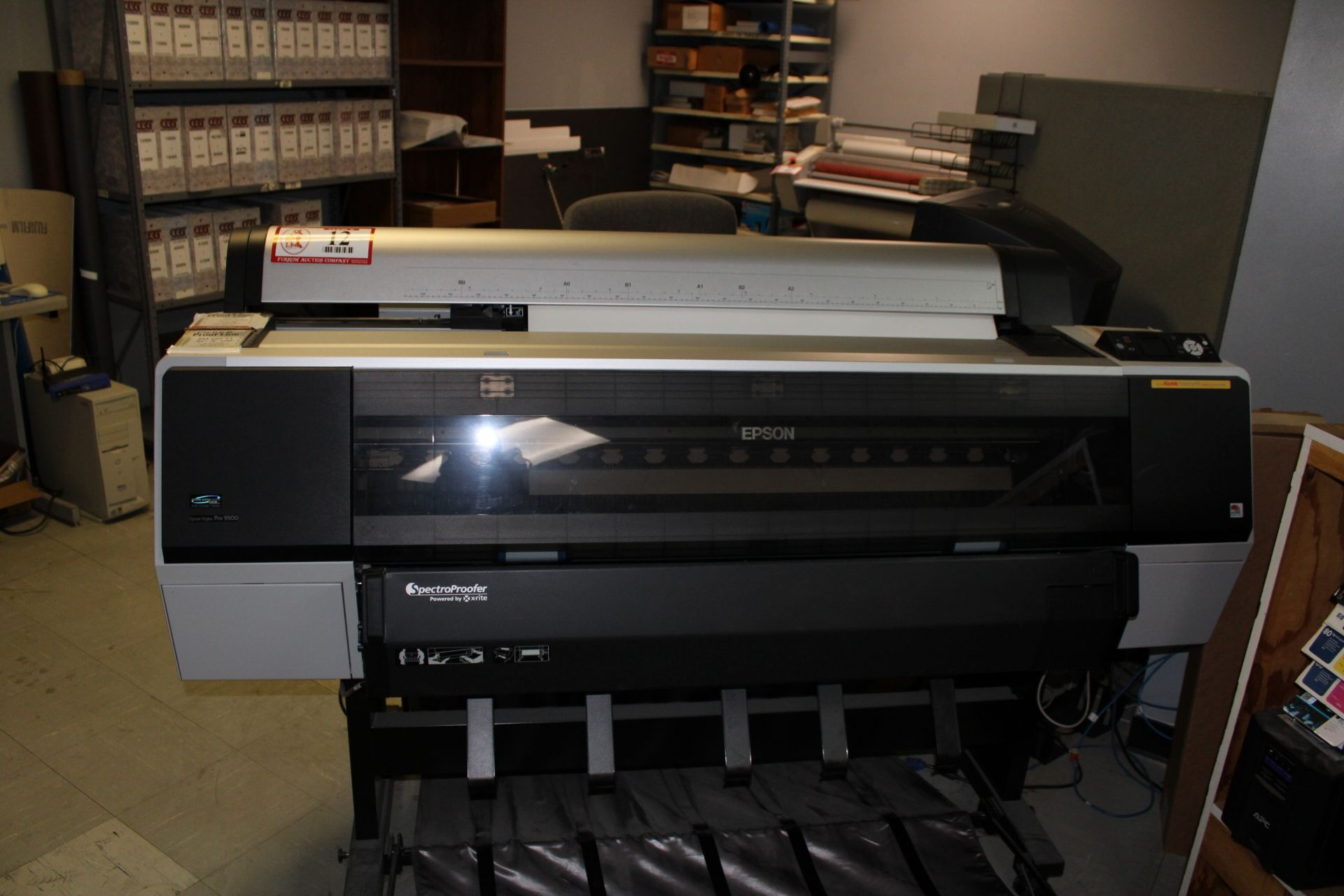 Lot 12 - EPSON Stylus Pro 9900 Wide Format Printer w/ Spectral Proofer Powered by X-Rite- Includes Dell