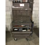Waterloo 17 Drawer Toolbox on Casters w/ Contents- Misc. Hand Tools, Wrenches, Screw Drivers,