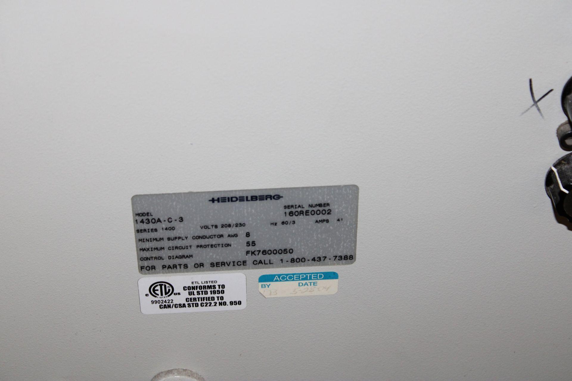 Lot 36 - Heidelberg Stahl B30 1430A-C-3 Folder s/n 160RE0002