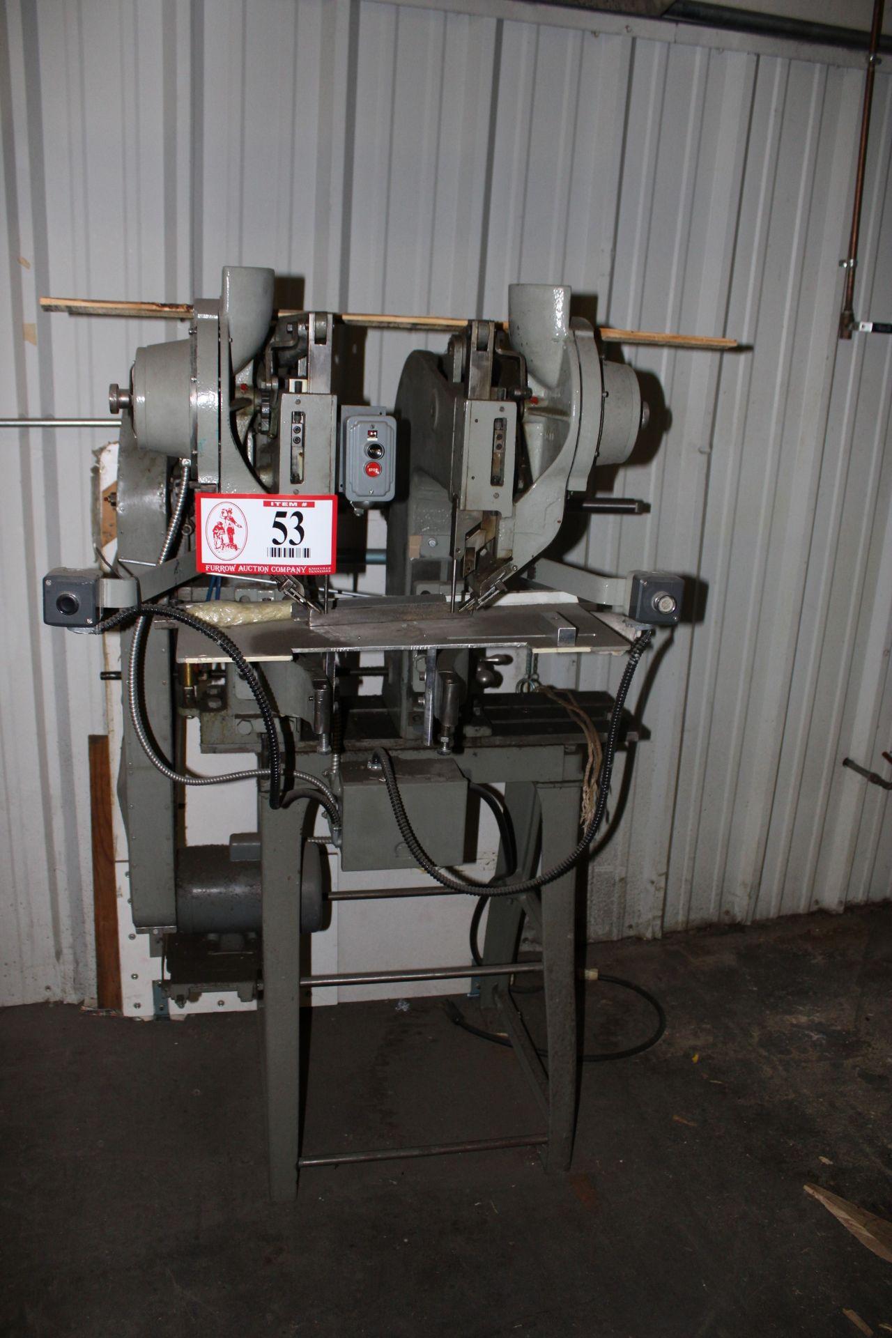 Lot 53 - CR&M ND-800 2-Head Rivet Machine