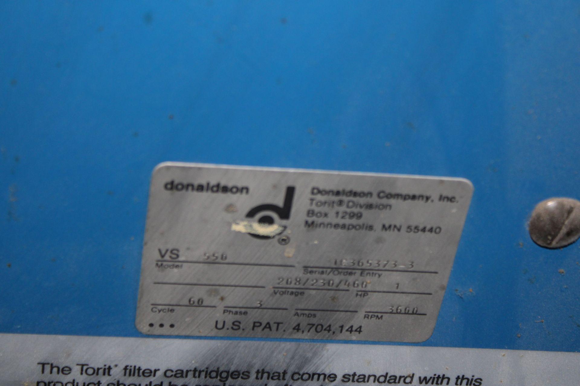 Lot 48 - Donaldson Torit Model VS550 Dust Collector s/n 1G365373-3