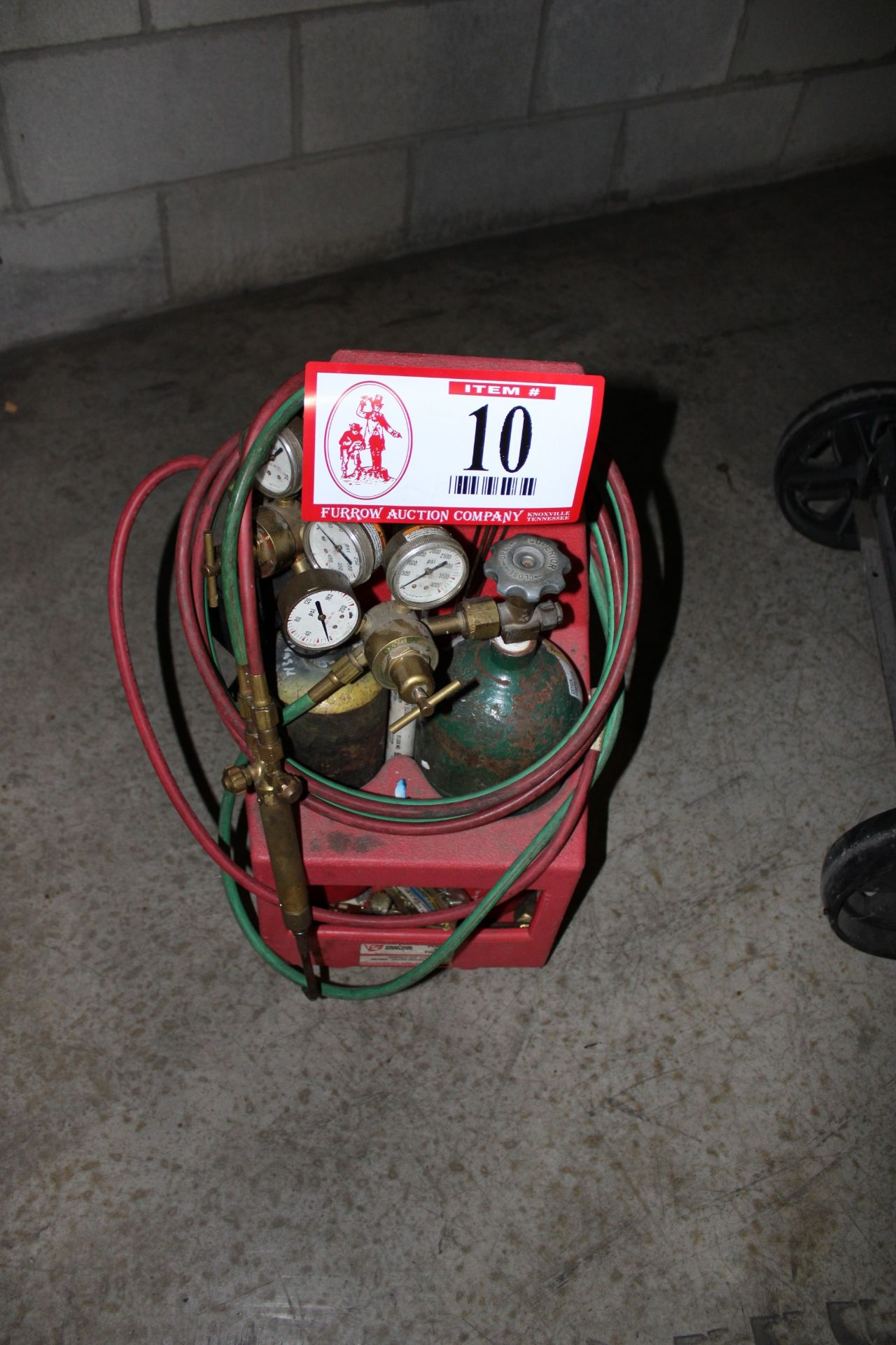 Lot 10 - Portable Oxygen Acetylene Torch Set