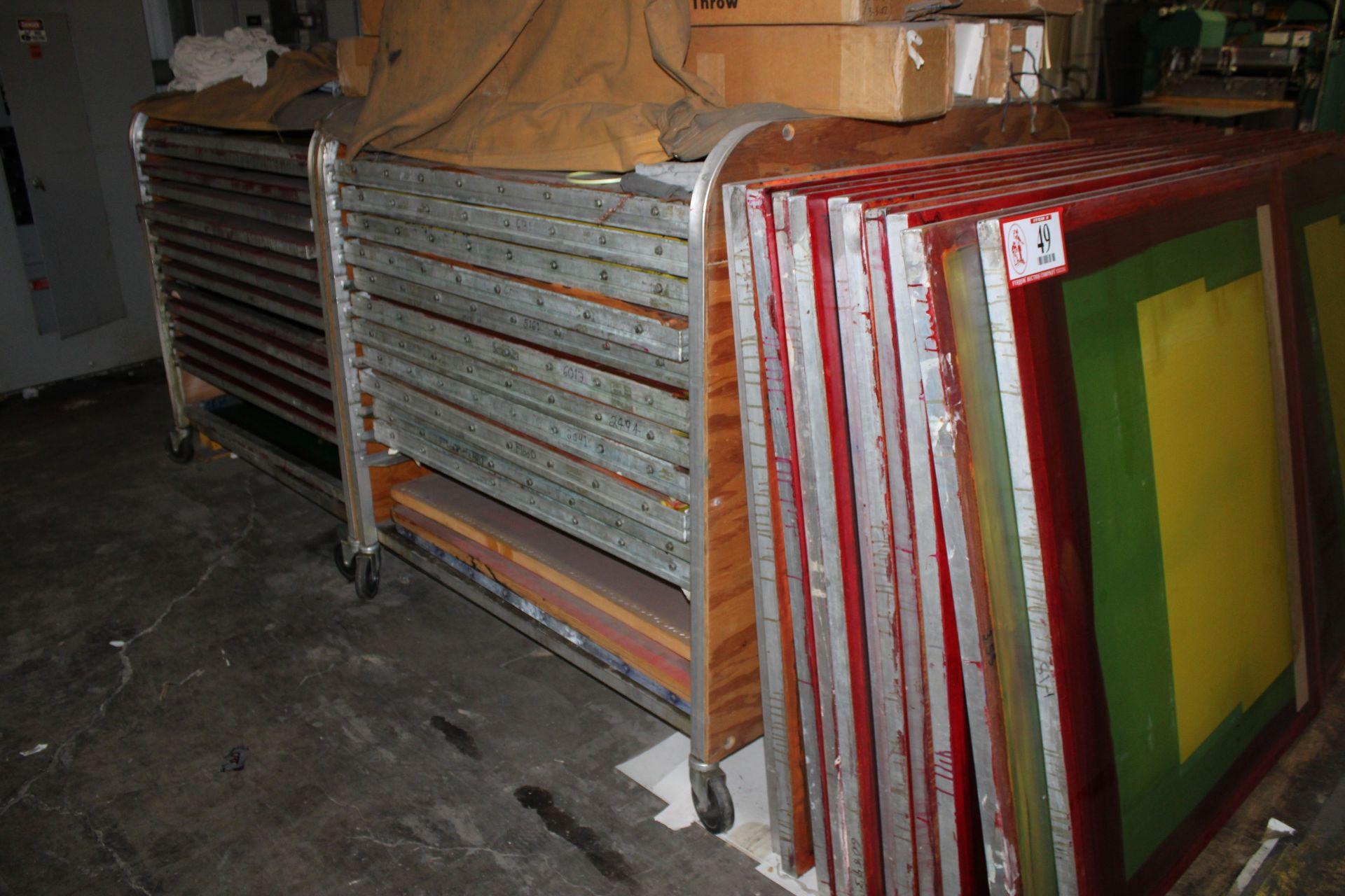 """Lot 49 - Approx. (70) 45 3/4"""" x 15 3/4"""" Aluminum Silk Screen Frames"""
