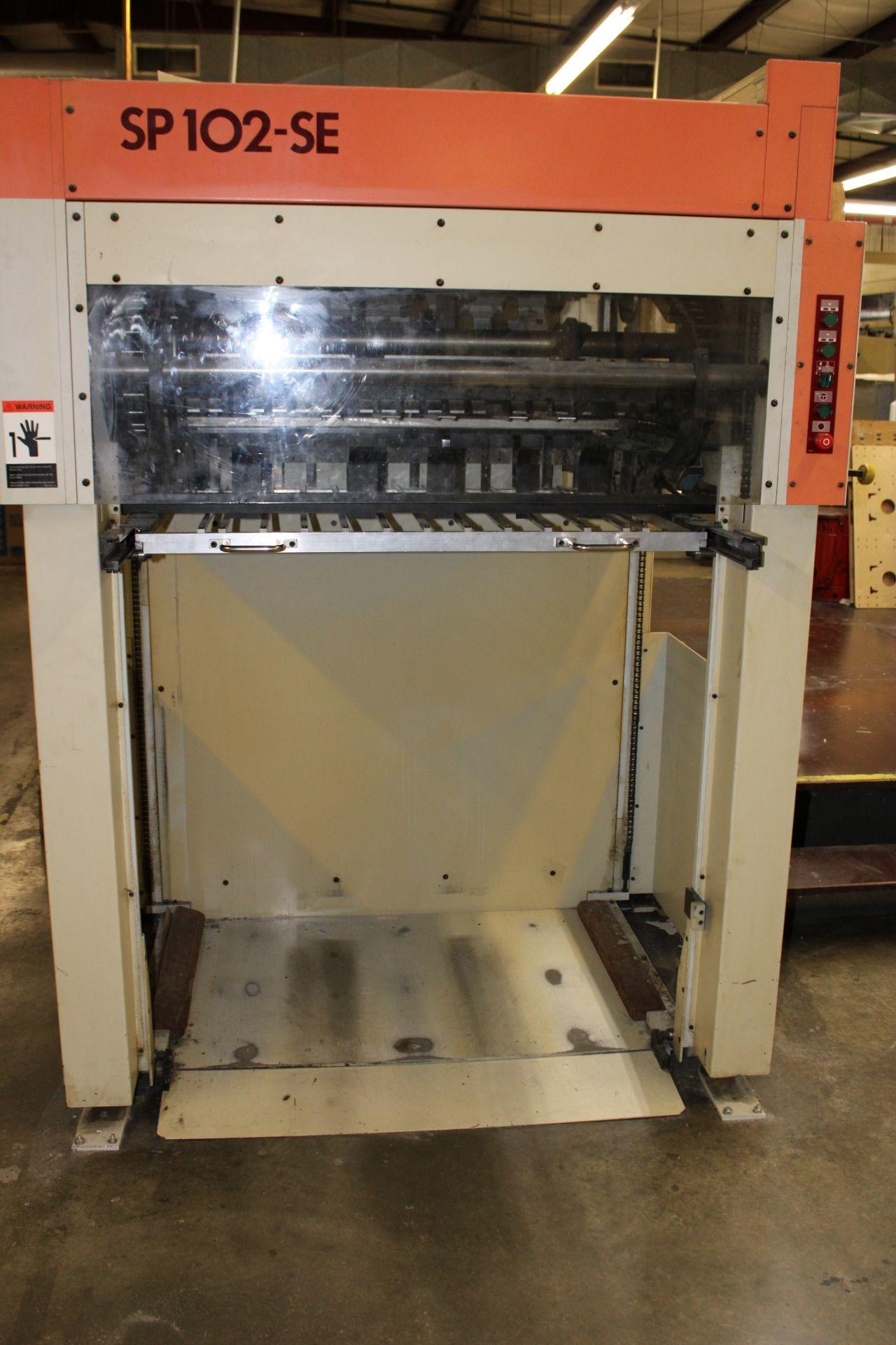 Lot 33 - BOBST Model SP102-SE Automatic Die Cutter Type Auto Platen Size 102 x 72 centimeter, Minimum 40 x 35