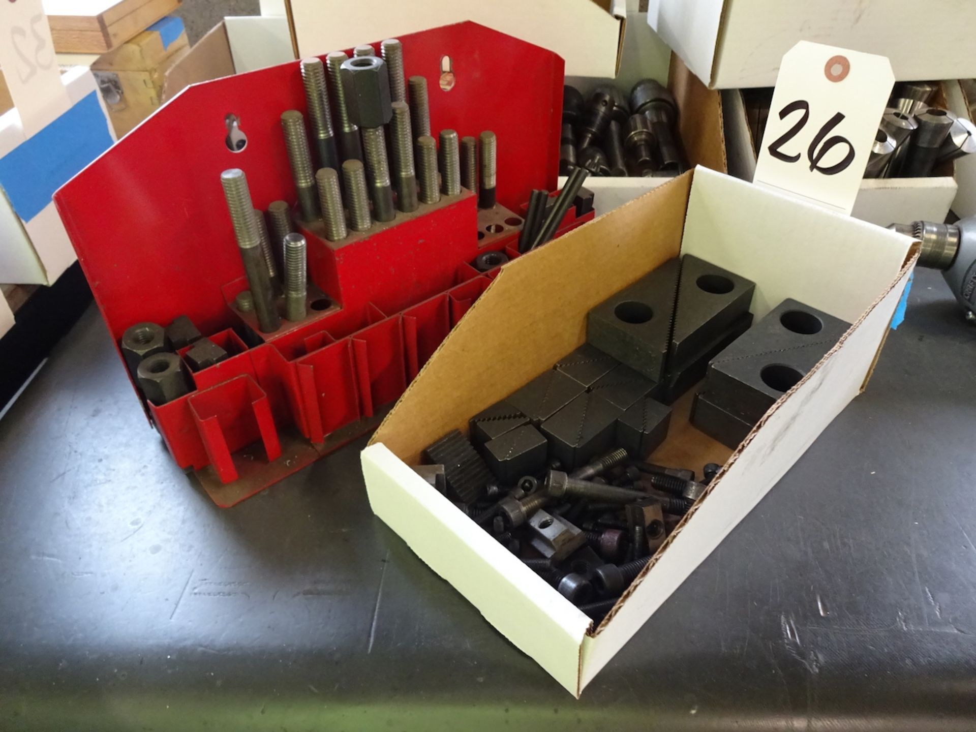 Lot 26 - LOT: ASSORTED HOLD DOWN PARTS
